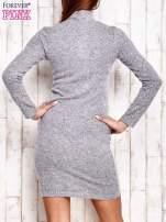 Sweterowa sukienka z wycięciem szara                                  zdj.                                  4