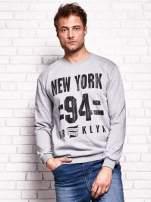 Szara bluza męska z napisem NEW YORK                                  zdj.                                  1