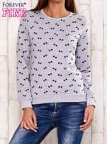 Szara bluza motyw kokardek                                  zdj.                                  1