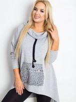 Szara bluza plus size Without                                  zdj.                                  3