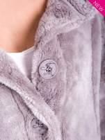 Szara bluza pluszowa z wysokim kołnierzem                                                                          zdj.                                                                         8