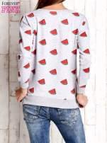 Szara bluza w arbuzy z wiązaniem                                  zdj.                                  3