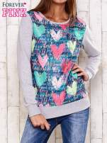 Szara bluza z motywem serc                                  zdj.                                  1