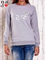 Szara bluza z motywem serduszek                                  zdj.                                  1