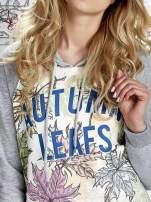 Szara bluza z nadrukiem liści i napisem AUTUMN LEAFS                                                                          zdj.                                                                         6