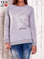 Khaki bluza z nadrukiem serca i napisem JE T'AIME                                                                           zdj.                                                                         1