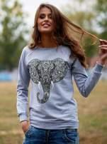 Szara bluza z nadrukiem słonia                                  zdj.                                  1