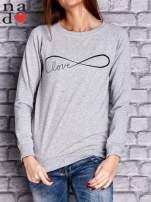 Szara bluza z napisem LOVE                                  zdj.                                  1