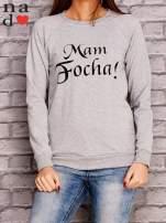 Szara bluza z napisem MAM FOCHA                                  zdj.                                  1