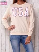 Szara bluza z napisem USA                                  zdj.                                  1