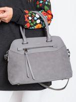 Szara damska torba z ekoskóry                                  zdj.                                  1