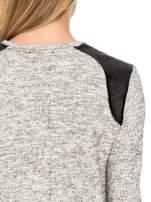 Szara długa bluza z nadrukiem czaszki                                  zdj.                                  7