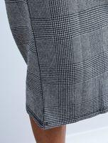 Szara długa spódnica ołówkowa w kratę                                  zdj.                                  8
