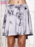 Szara dresowa spódnica szyta z koła z efektem  tie-dye                                  zdj.                                  1