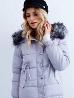 Szara kurtka zimowa pikowana                                  zdj.                                  7