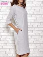 Szara prosta sukienka dresowa                                                                          zdj.                                                                         3