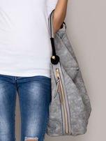 Szara torba z bocznymi suwakami                                  zdj.                                  2