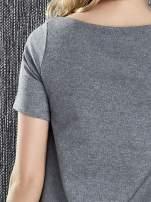 Szara trapezowa sukienka z kieszeniami                                  zdj.                                  7