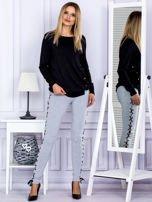 Szare sznurowane legginsy                                   zdj.                                  4