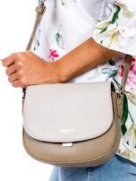 Szaro-beżowa torebka listonoszka ze skóry ekologicznej                                  zdj.                                  2
