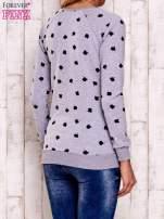Szaro-czarna bluza z nadrukiem jabłuszka                                  zdj.                                  2