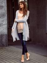 Szary długi puszysty sweter                                  zdj.                                  6