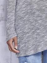 Szary melanżowy sweter z łezką na plecach                                  zdj.                                  7