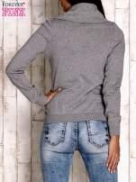 Szary sweter z szerokim golfem                                  zdj.                                  4