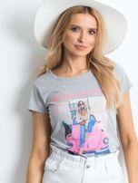 Szary t-shirt Invariably                                  zdj.                                  1