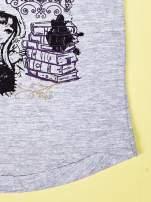 Szary t-shirt dla dziewczynki z nadrukiem EVER AFTER HIGH                                  zdj.                                  5