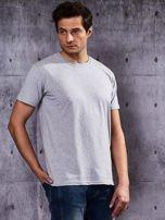 Szary t-shirt męski                                   zdj.                                  5