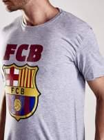 Szary t-shirt męski z motywem FC BARCELONA                                                                          zdj.                                                                         7
