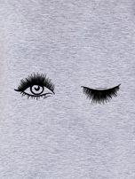 Szary t-shirt z motywem oka                                  zdj.                                  2