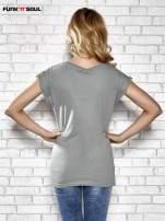 Szary t-shirt z nadrukiem Lady Gaga Funk n Soul                                  zdj.                                  4