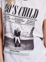 Szary t-shirt z napisem 90'S CHILD                                  zdj.                                  5