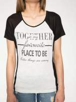 Szary t-shirt z napisem TOGETHER IS MY FAVOURITE PLACE TO BE                                  zdj.                                  7