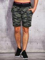 Szorty męskie w militarnym stylu khaki                                  zdj.                                  1