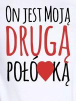 T-shirt biały dla par DRUGA POŁÓWKA                                  zdj.                                  2