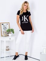 T-shirt czarny JUST KIDDING                                  zdj.                                  4