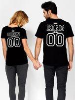T-shirt damski V-neck QUEEN czarny dla par                                  zdj.                                  3