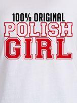 T-shirt damski patriotyczny 100% ORIGINAL POLISH GIRL biały                                  zdj.                                  2