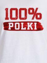 T-shirt damski patriotyczny 100% POLKI biały                                  zdj.                                  2