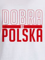 T-shirt damski patriotyczny DOBRA BO POLSKA biały                                  zdj.                                  2