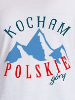 T-shirt damski patriotyczny KOCHAM POLSKIE GÓRY biały                                  zdj.                                  2