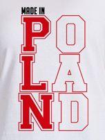 T-shirt damski patriotyczny MADE IN POLAND biały                                  zdj.                                  2