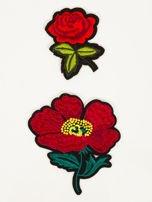 T-shirt damski turkusowy z naszywkami FLOWERS                                  zdj.                                  2