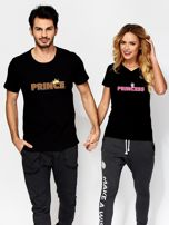 T-shirt dla par czarny PRINCESS                                  zdj.                                  3