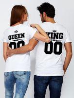 T-shirt dla par z napisem biały                                  zdj.                                  3