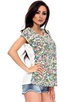 T-shirt w kolorowe drobne kwiatki                                  zdj.                                  6