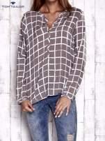TOM TAILOR Beżowa koszula w kratę                                  zdj.                                  1